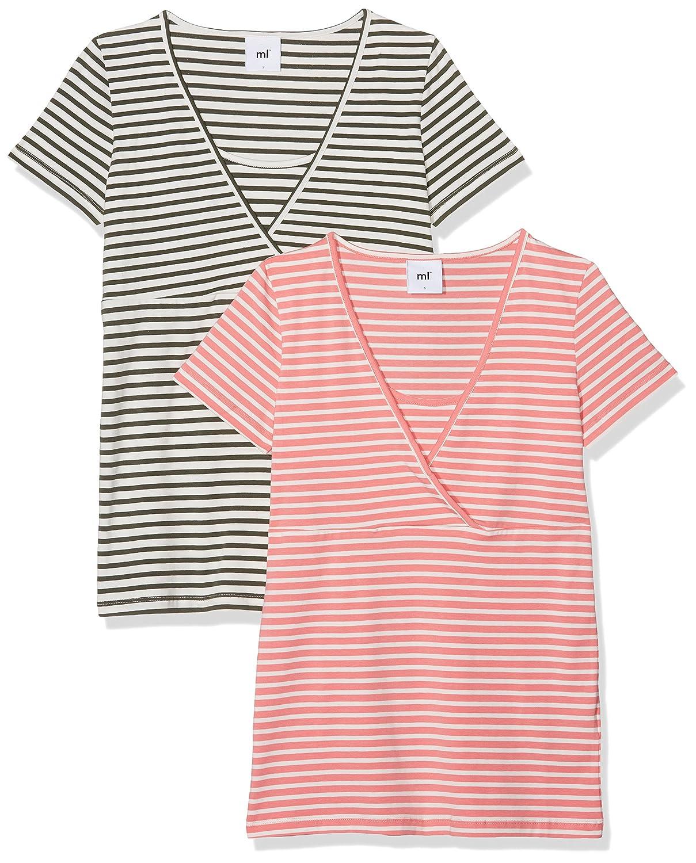 MAMALICIOUS Damen Umstands-T-Shirt, 2er Pack 20008508