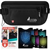 RFID Money Belt For Travel with 1x Passport and 6x Credit Card Protector RFID Sleeves Those Travel Wallets and Accessories are must have for any traveler
