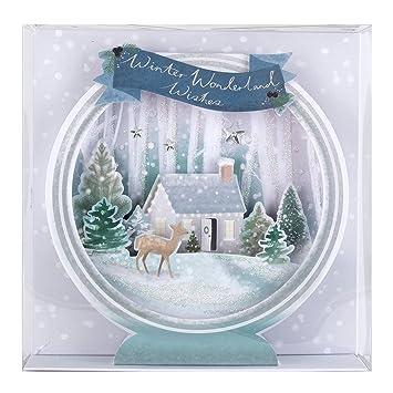 hallmark luxury 3d christmas card pack winter wonderland 5 cards 1 design