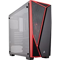 Corsair CC-9011117-WW Carbide Series SPEC-04 Tempered Glass Mid-Tower Gaming Case - Black/Red