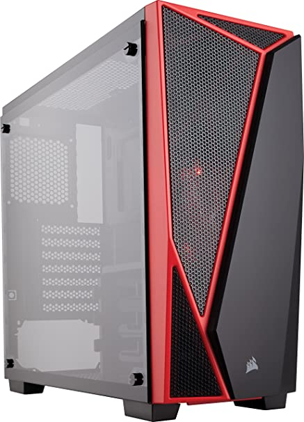 reputable site 20c51 754b9 CORSAIR Carbide SPEC-04 Mid-Tower Gaming Case, Tempered Glass- Red