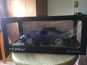 Norev - 187621 - Porsche 911 Turbo 2010 Ble - 1:18: Amazon.es: Juguetes y juegos