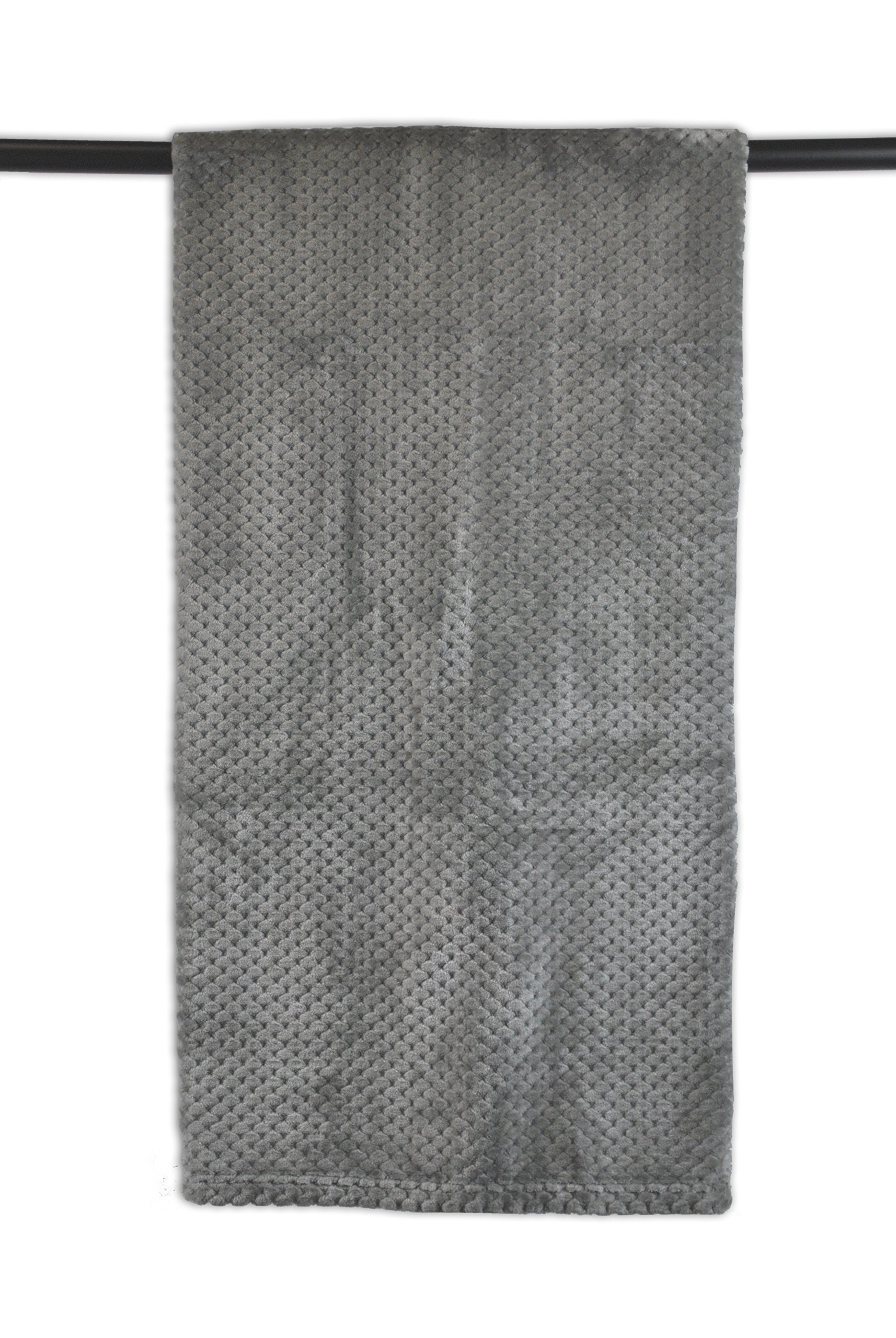 Bone Dry DII Small Pet Throw Blanket, 36x54, Warm, Soft, Plush for Couch, Car, Trunk, Cage, Kennel, Dog House-Gray
