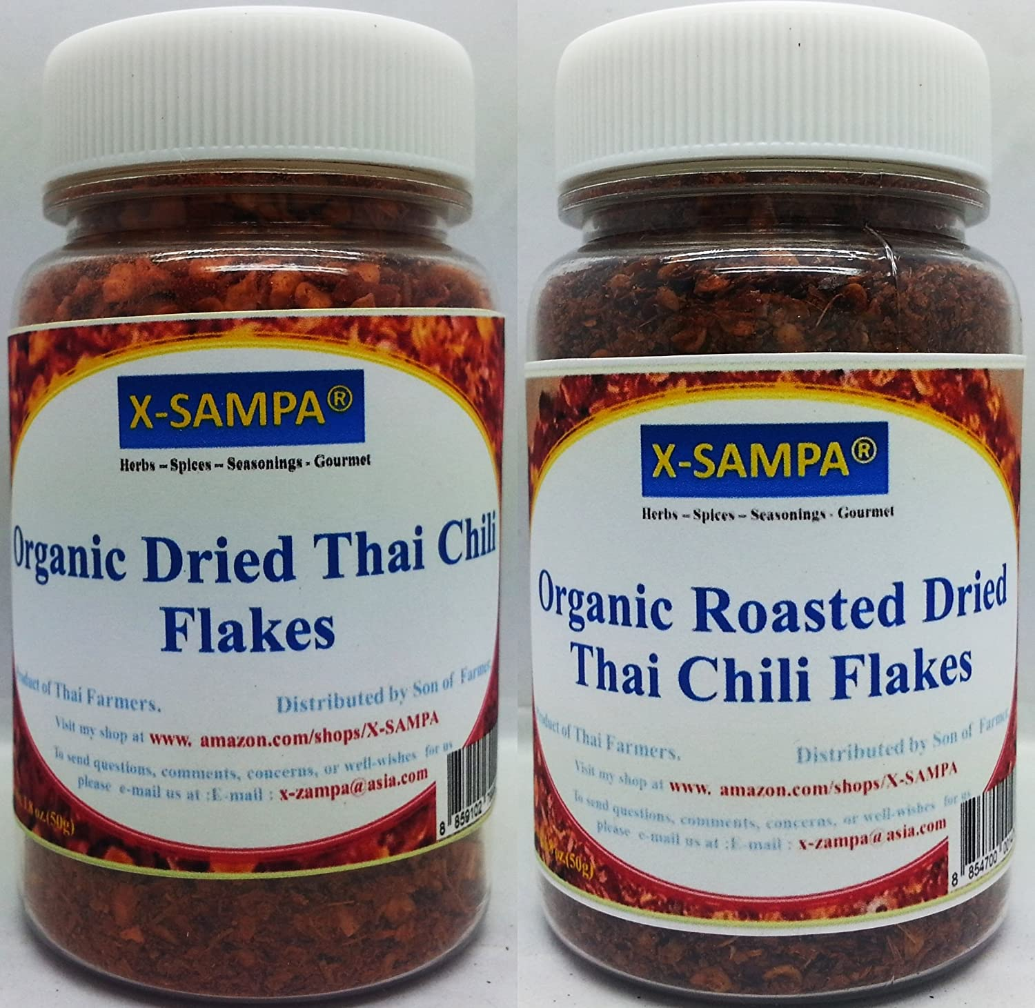 Amazon.com : Yours Kitchen Spice Set Organic Dried Thai Chili Flakes ...