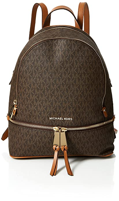 777961bfeb6d Michael Kors Womens Rhea Zip Backpack Brown (Brown): Amazon.co.uk ...