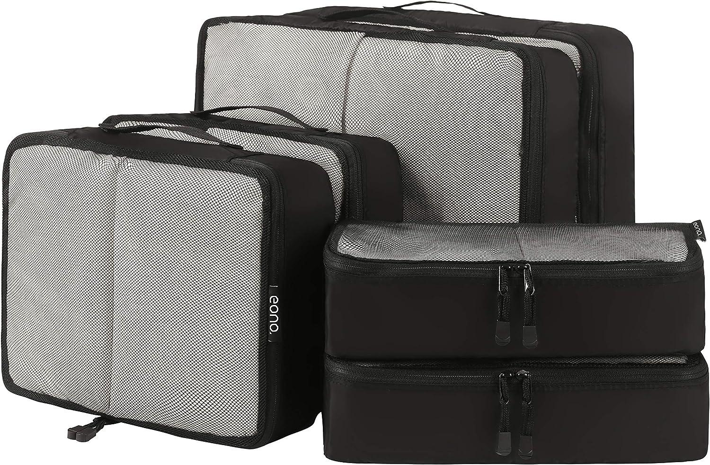 Eono by Amazon - Organizadores de Viaje Cubos de Embalaje Organizadores para Maletas Travel Packing Cubes Equipaje de Viaje Organizadores Organizadores para el Equipaje, Malla,6 Pcs