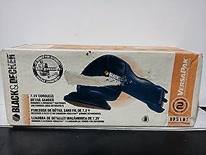 Black & Decker 7.2V Cordless Detail Sander, Requires 2 Versapak Batteries & Charger (Sold Separately) #VP510T