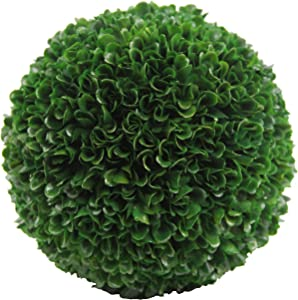 "Admired By Nature aux Preserved Artificial Boxwood Ball Topiary Plant Green, 7.25""H, Large - 1 pc"
