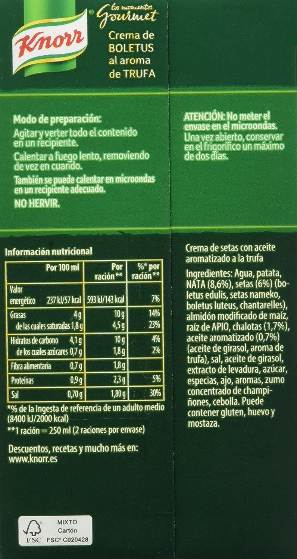 Knorr - Crema de Boletus, 1 unidad - [Pack de 4]: Amazon.es: Alimentación y bebidas