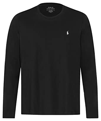 a6630fca1ec982 Polo Ralph Lauren Longsleeve Crew Neck Shirt Langarm Shirt Sleep Top   Amazon.de  Bekleidung