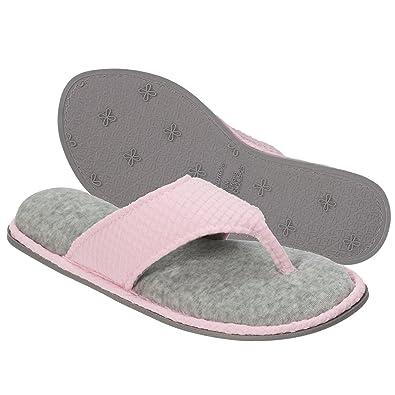 Dearfoams Damens's Slipper TextuROT Knit Thong Slipper Damens's   Sandales d32832