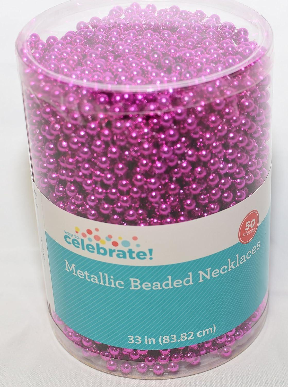 50 Metallic Beaded Necklaces