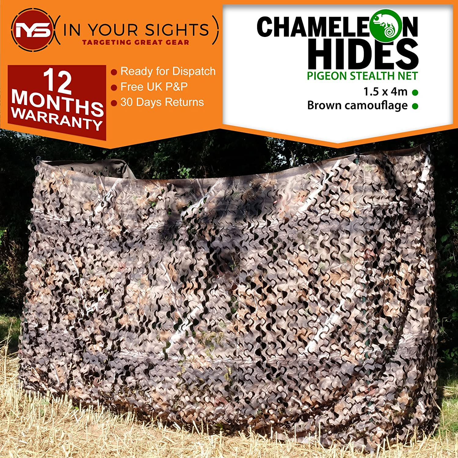 Pigeon Hide Realtree net verde o marrone mimetico 3D Leaf Nascondi netto 1.5 mx4 m, Brown Realtree Hide In Your Sights