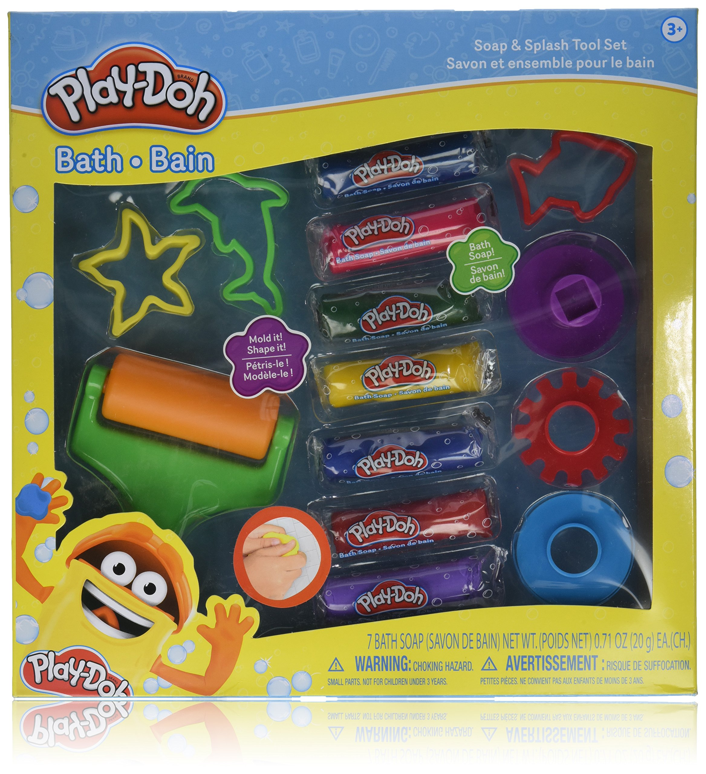 Townley Girl Play Doh Bath Soap Molder Set with 7 different colors of moldable soap and