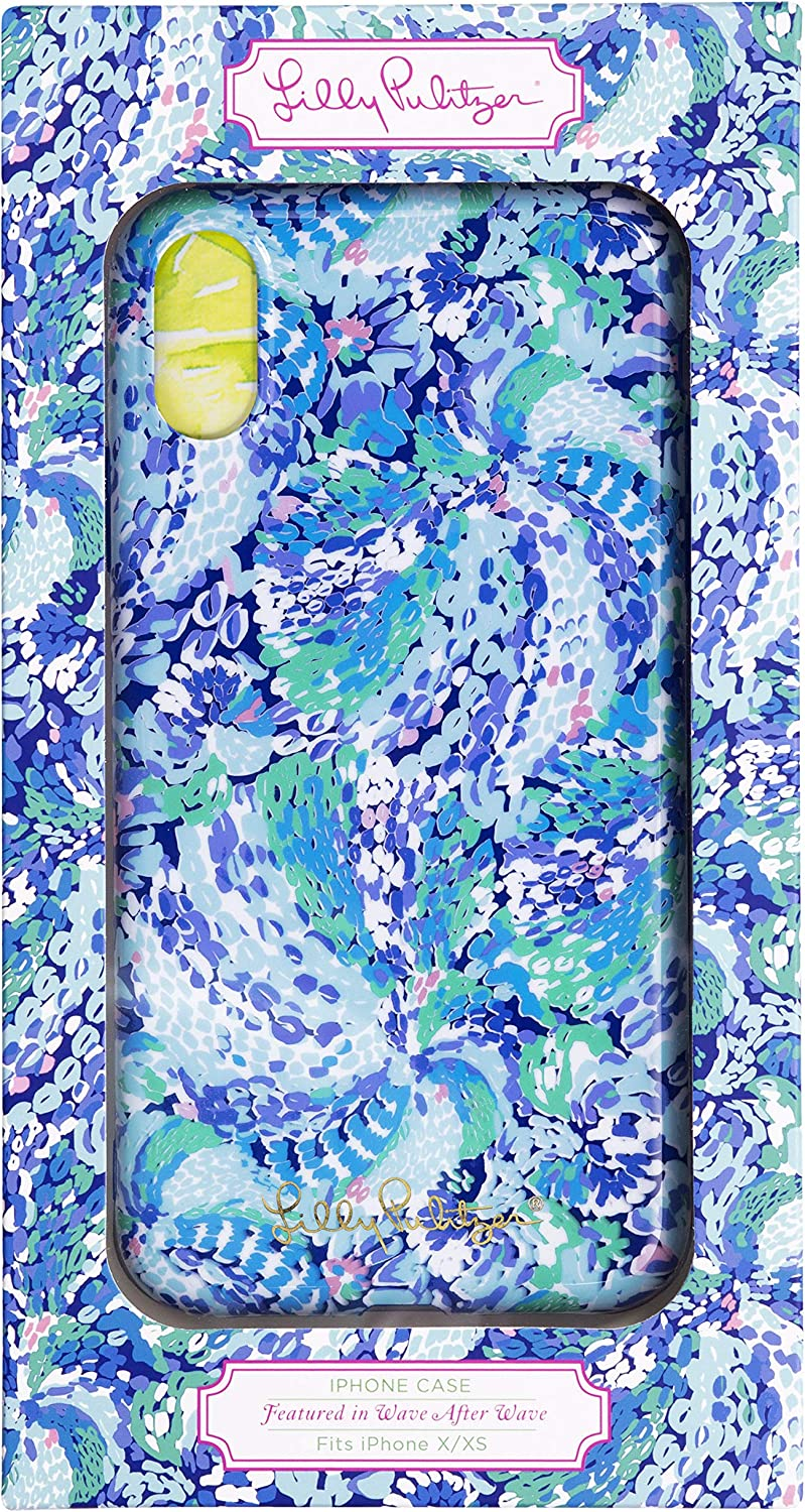 Lilly Pulitzer Blue iPhone X/XS Case, Wave After Wave