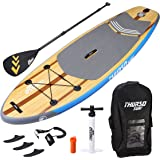 THURSO SURF Prodigy Junior Kids Inflatable SUP Stand Up Paddle Board 7'6 x 30'' x 4'' TWO LAYER Includes Adjustable CARBON Shaft Paddle/3 Fins/Leash/Pump/Backpack