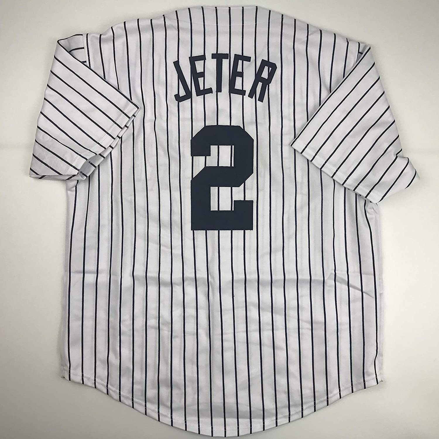 detailed look 6b033 a4113 Unsigned Derek Jeter New York Pinstripe Custom Stitched ...