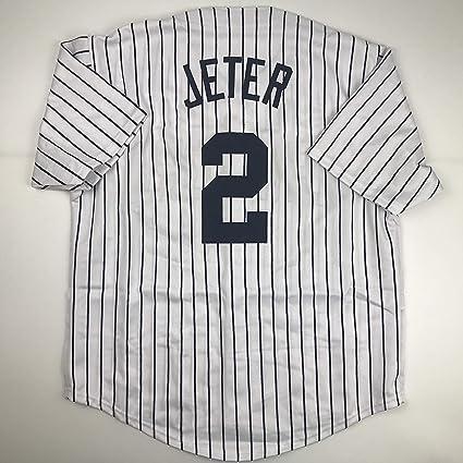 d7bfbd57ad1 Unsigned Derek Jeter New York Pinstripe Custom Stitched Baseball Jersey  Size Men s XL New No Brands