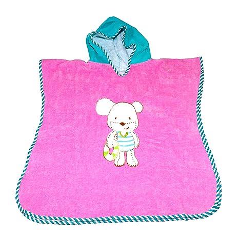 itsImagical - Baby aquapres Pink, Toalla de Playa con Capucha para bebé (Imaginarium 83339