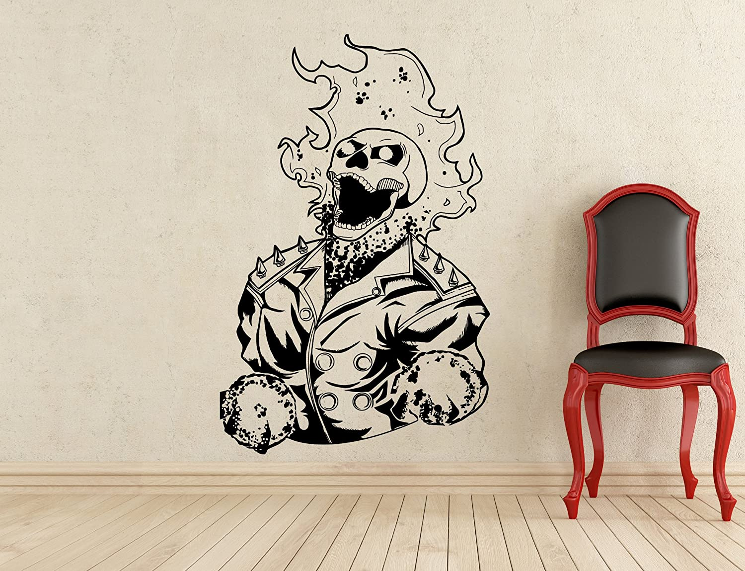 Ghost rider wall decal superhero vinyl sticker wall decor removable waterproof decal 149z amazon com