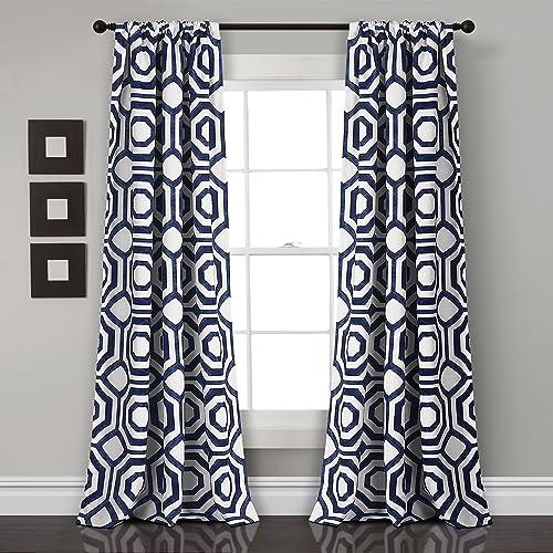 Deal of the week: Lush Decor D cor Octagon Blocks Room Darkening Window Curtain Panel Pair