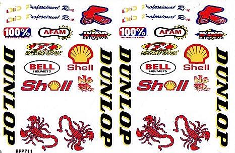 by soljo Sponsor Sponsors Sticker Tuning Racing Motocross Autocollant Feuille 27 x 18 cm