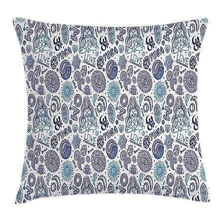 ZMYGH Yoga Throw Pillow Cushion Cover, Ornamental Mandala ...