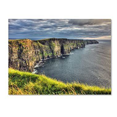 Cliffs of Moher Ireland by Pierre Leclerc work, 30 by 47-Inch Canvas Wall Art