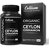 Organic Ceylon Cinnamon Supplement (USDA CERTIFIED), True Cinnamon from Sri Lanka. Promotes a Healthy Heart, Weight Loss and Joint Health, 1200 mg - 60 Vegetable Caps