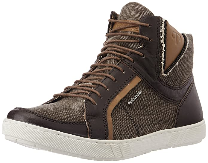 Provogue Men's Leather Sneakers Men's Sneakers at amazon