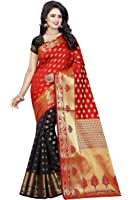 Vatsla Enterprise Women's Cotton silk Saree (VSLA01004RED_RED)