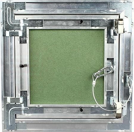 MKK Premium Revisionsklappe 500 x 500 mm GKBi-Einlage Wartung Inspektionsklappe Feuchtraum Druckverschluss ALU Aluminium Gipskarton Trockenbau Revisions Fliesen