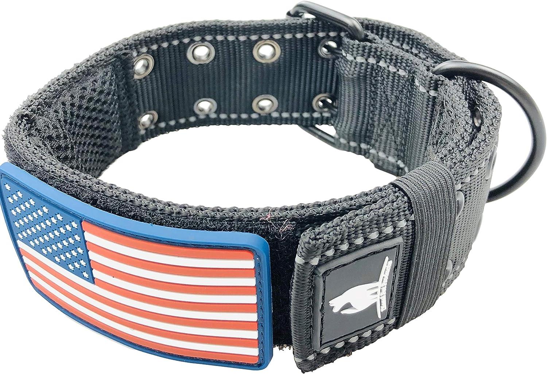Diezel Pet Products collares para perros K9 estilo militar táctico – 2 pulgadas de ancho de nailon grueso resistente para perros grandes y grandes – Hebilla de metal de dos pines –