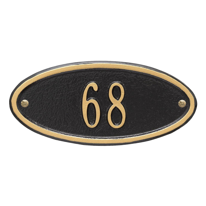 Madison小柄壁アドレスPlaqueカラー:ブラック/ゴールド文字   B00A18AVMI
