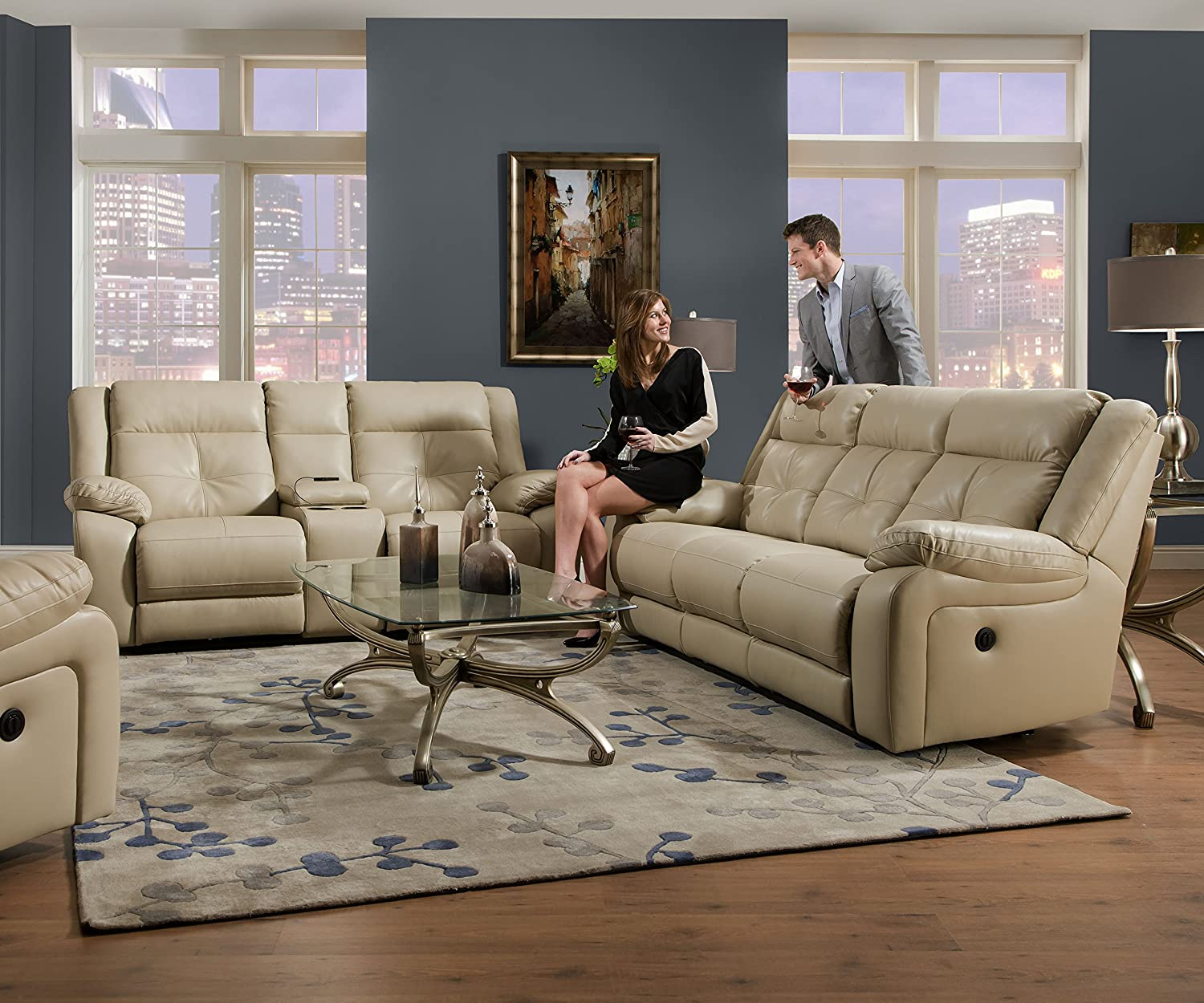 Amazon Simmons Upholstery Miracle Pearl Bonded Leather Double