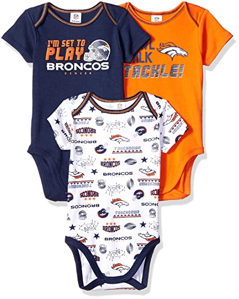 Image Unavailable. Image not available for. Color  NFL Denver Broncos Unisex -Baby 3-Pack Short Sleeve ... 49b5ff2d6