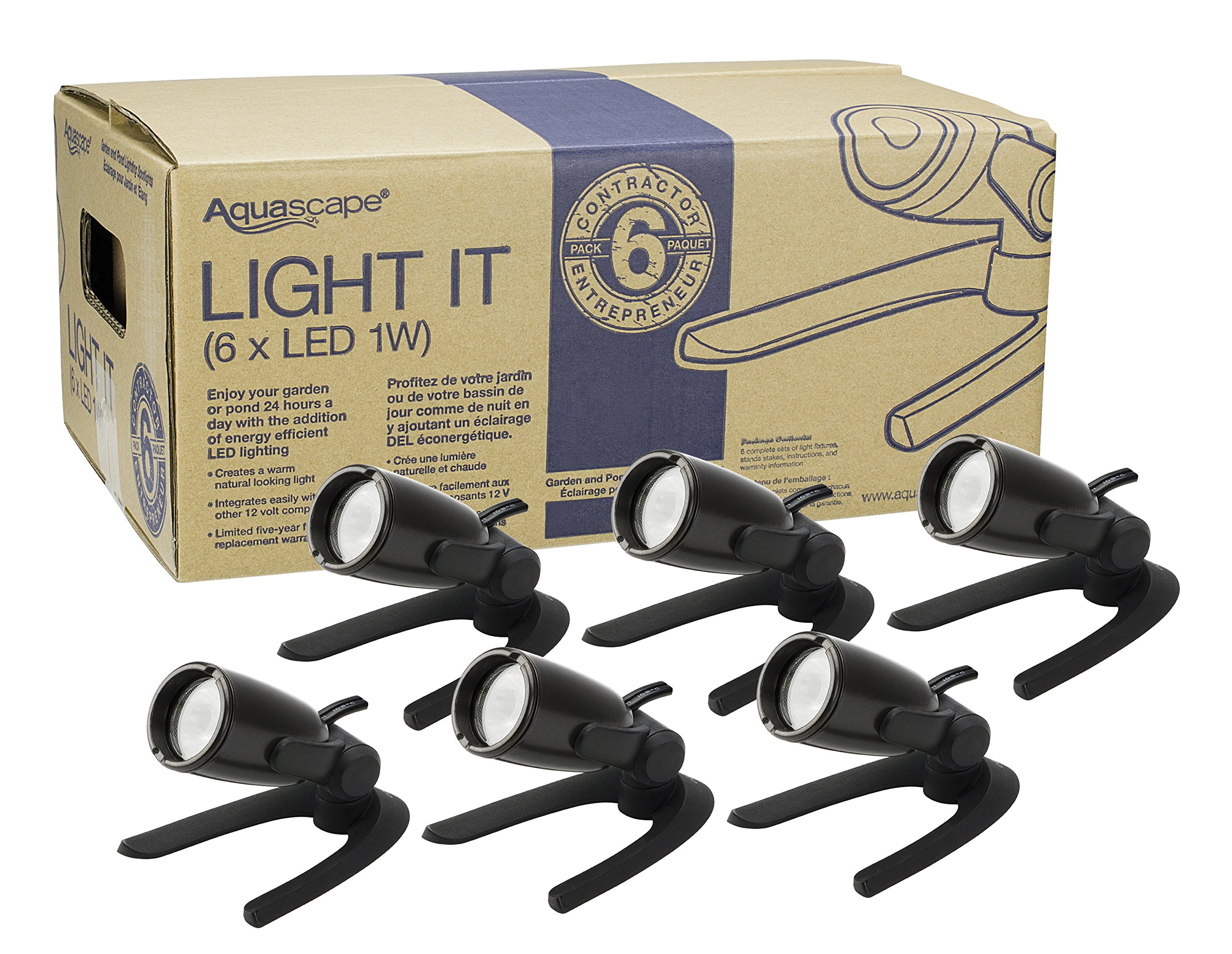Aquascape 1W Contractor Pond and Landscape Spot Light (Pack of 6) by Aquascape