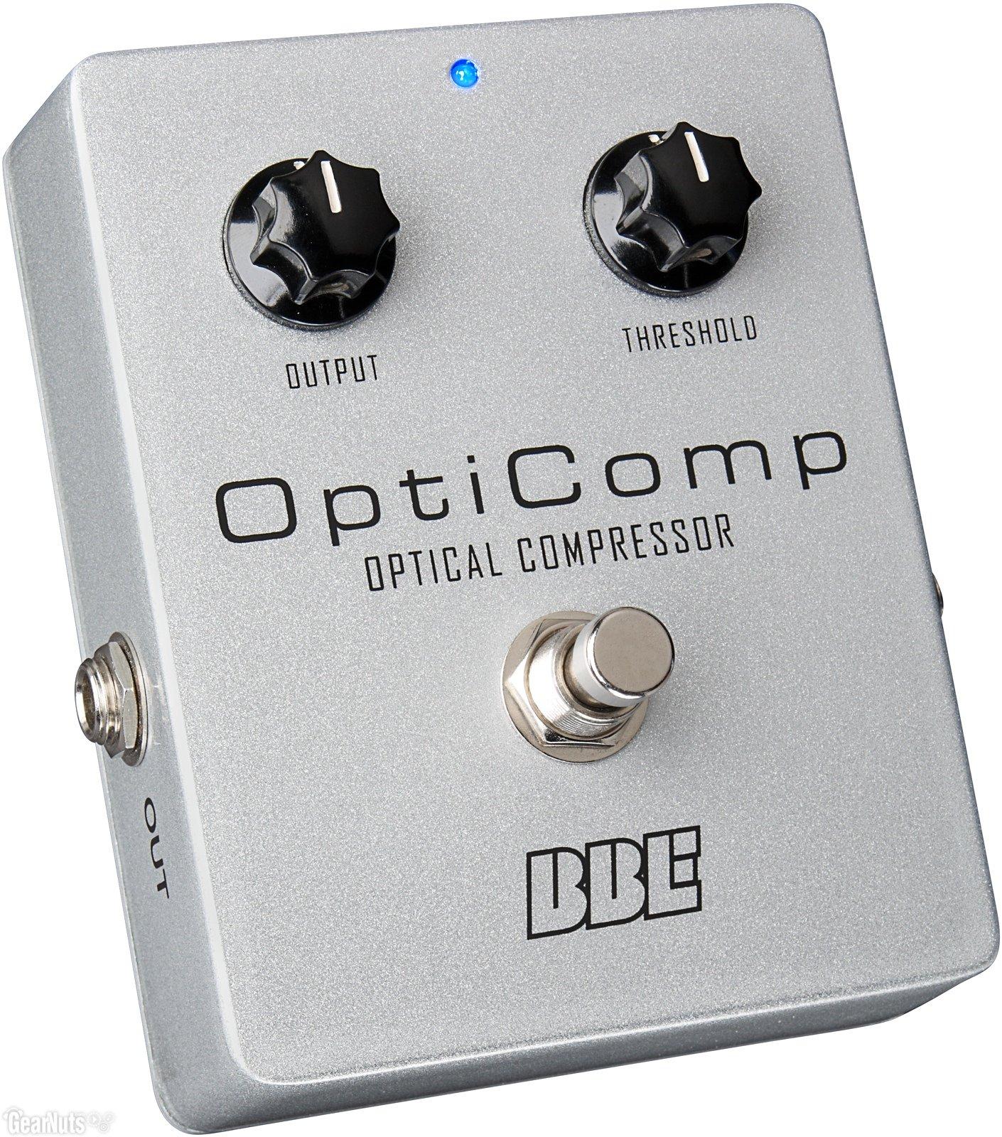 BBE OptiComp Optical Compressor Guitar and Bass Pedal