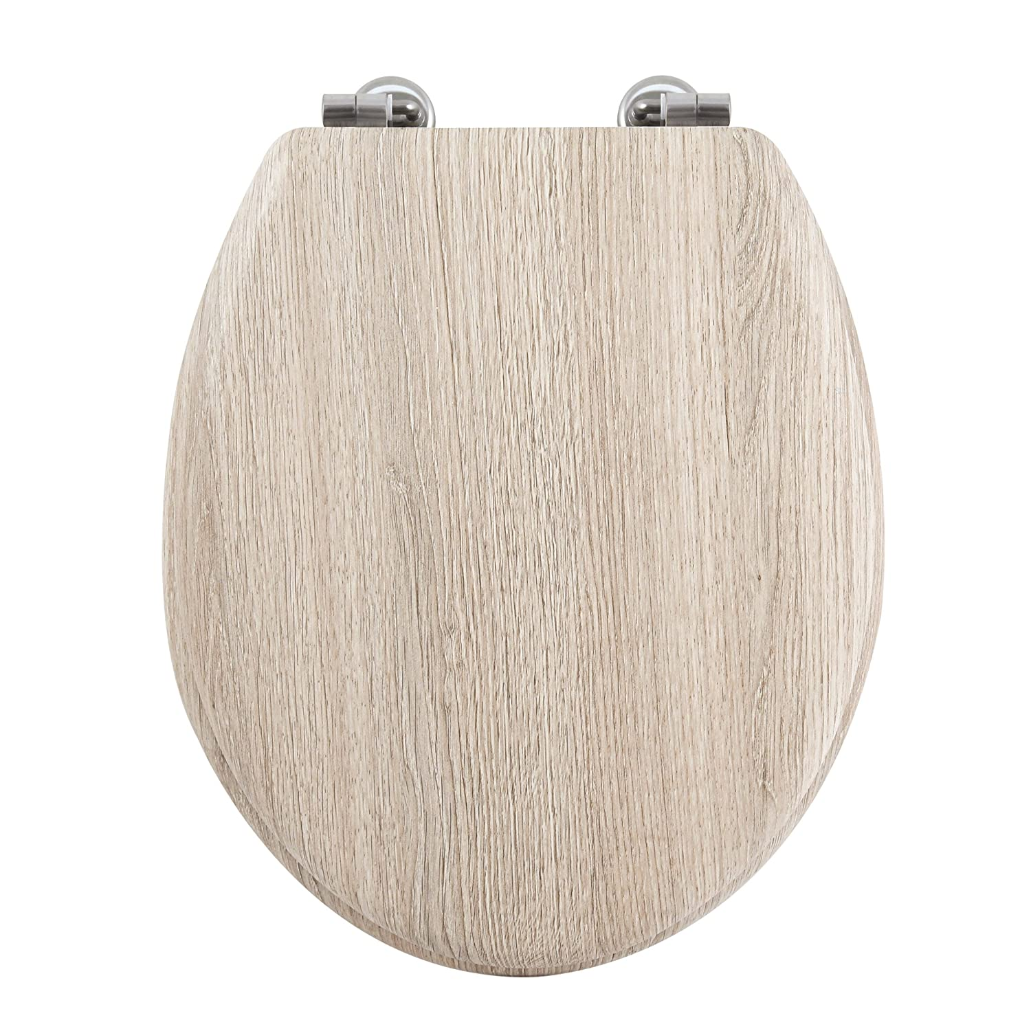 MSV Asiento WC Madera Gris 42.5x36.5x3 cm 71 Unidades