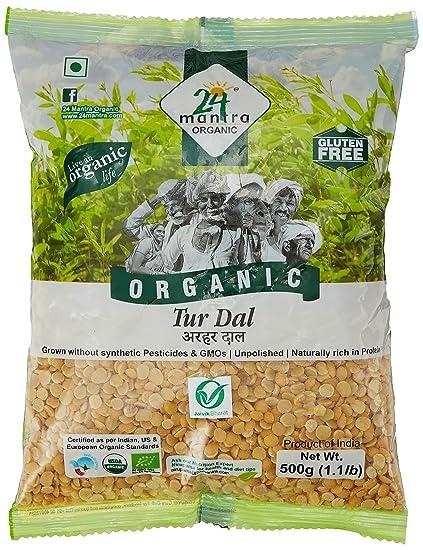 24 Mantra Organic Tur Dal, 500g