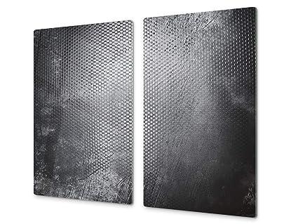 Copri Top Cucina.Tagliere Da Cucina In Vetro E Copri Piano Cottura A Induzione Pezzo Unico 60x52 Cm O Due Pezzi 30x52 Cm Ognuno D10a Serie Textures B