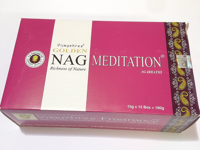 Incenso Nag Meditation - Confezione di 12scatole da 180bastoncini di qualità.
