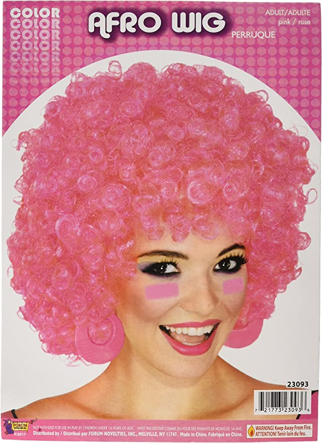 Forum Costume Purple Party Clown Afro Wig One Size