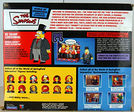 2003 Playmates The Simpsons World Of Springfield Be Sharp Centennial Dr Dolittle