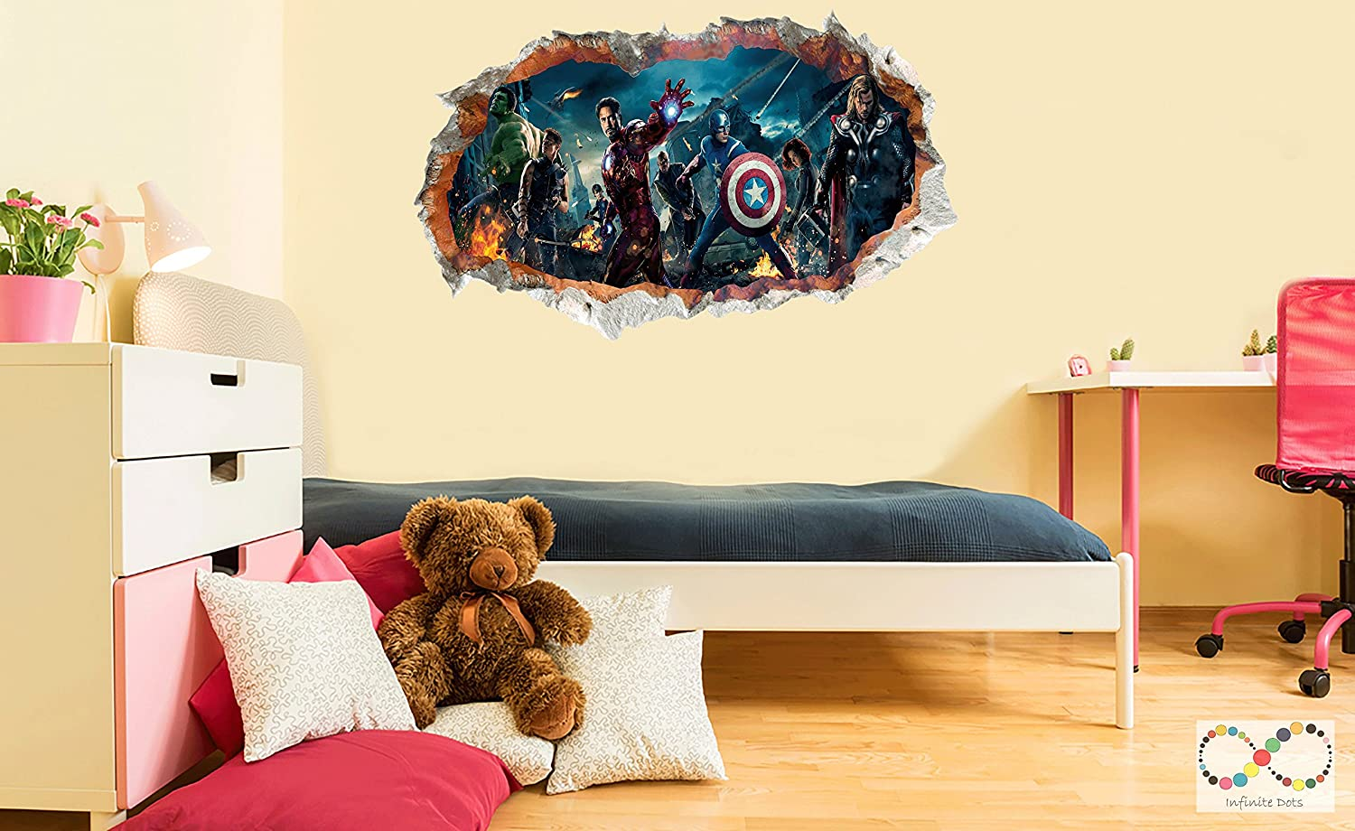 Wall Sticker (World of SuperHeroes - Hulk, Captain America, Thor ...