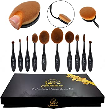 flat oval makeup brush. 2016 high quality 10pcs soft oval foundation makeup brush sets powder blusher toothbrush curve cosmetic flat _