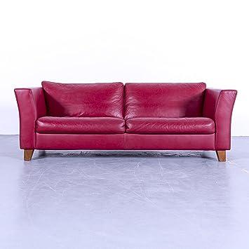Amazon De Machalke Designer Sofa Leder Rot Dreisitzer Couch