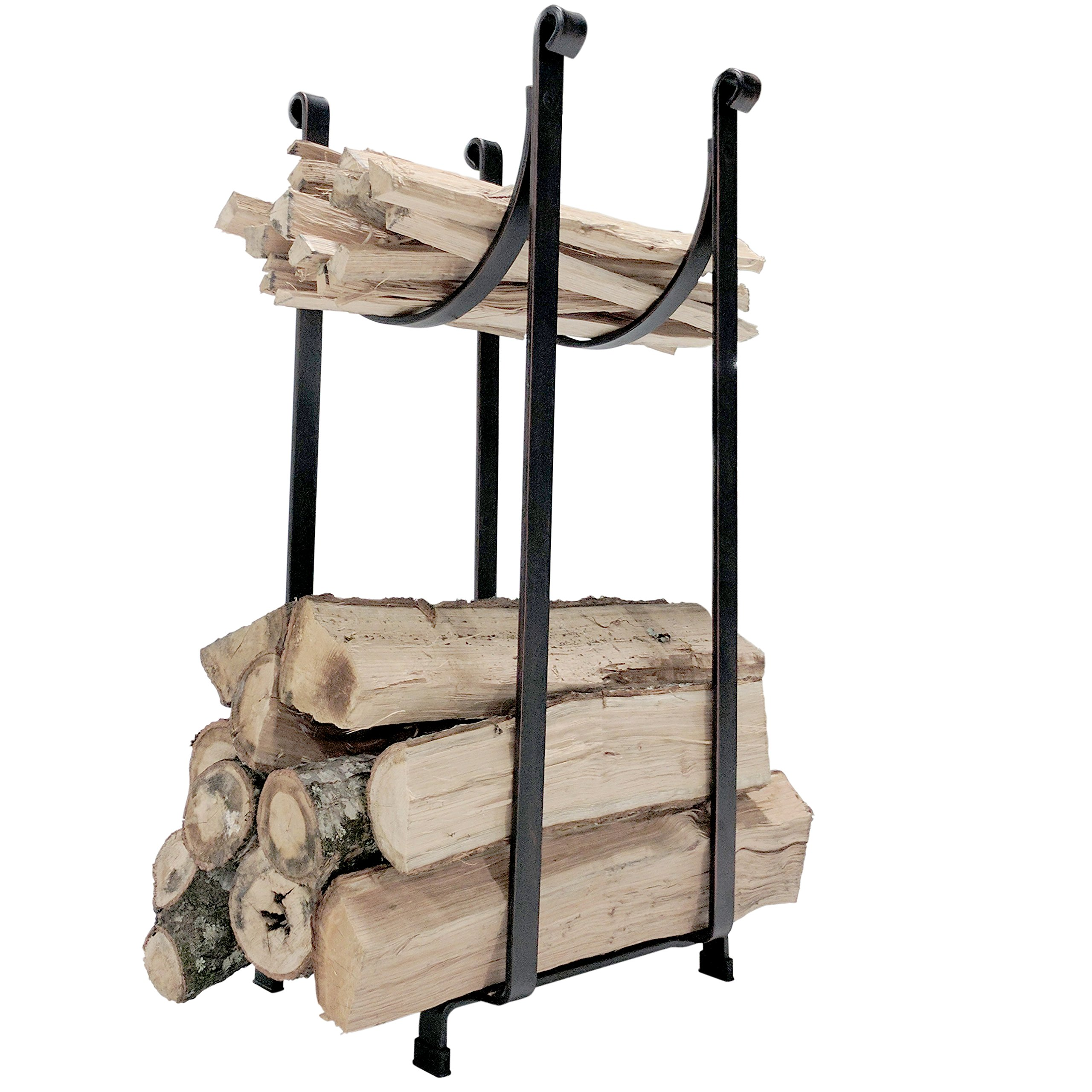 Titan Steel Sling Hearth Firewood Log Rack Storage Holder 22'' H x 14'' L