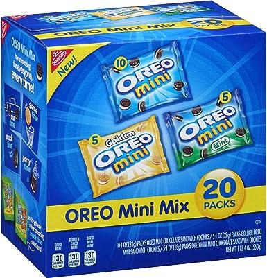 Nabisco Oreo Mini Mix Sandwich Cookies Variety Pack, 1 oz, 20 count (1 BOX) : Amazon.es: Alimentación y bebidas