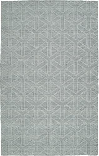 Kaleen Rugs Imprints Modern Collection IPM08-79 Light Blue Hand Tufted Rug, 9 6 x 13 6